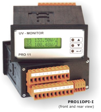 UV monitor for measuring UV intensity
